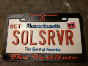 Fallout 4 License plate