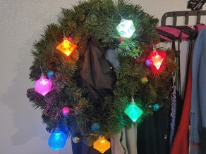 Polyhedral Dice Ornament Set