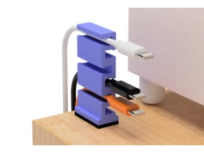 USB cable holder (for narrow space)
