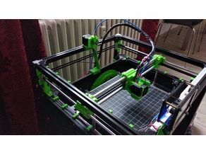 Light Corexy for 2020 profile base on Flsun cube 3D printer