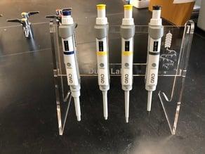 Lasercut pipette stand