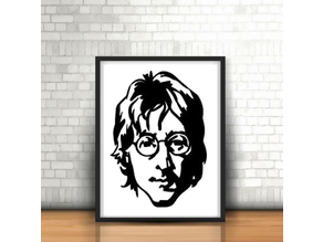 John Lennon Wall Sculpture 2D