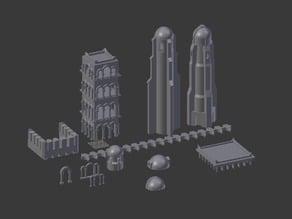 minas tirith batiments & architecture diorama