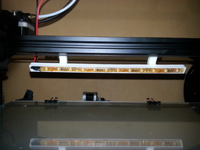 CR10 / CR10s Led-Strip Mount V-Rail clippable