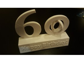 Happy 60th Birthday Sculpture with gyroscope