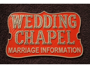 Las Vegas Wedding Chapel Sign