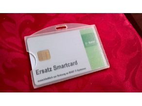 Transparent card holder (ID card holder)