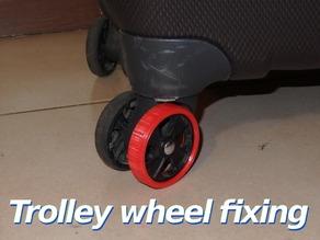 Trolley wheel fixing