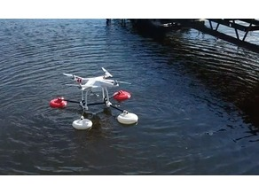 DIY 3D Printed DJI Phantom 3 Water Landing Gear