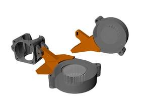 E3D V6 fan mount for 50mm blower fan