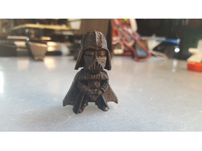 Cute Darth Vader with Low poly head