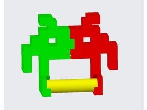 Space Invader Toilet Paper Holder Remix