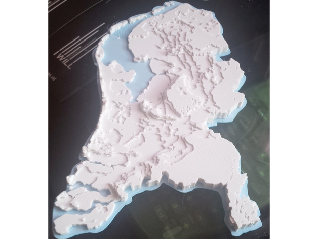 Netherlands Topographic 3D Map MakerEdChallenge 2 0 by mitrasmit