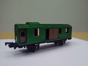 H0 scale old time baggage train car