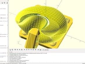 E3D fan duct nozzle v1.0 (openscad bezier)