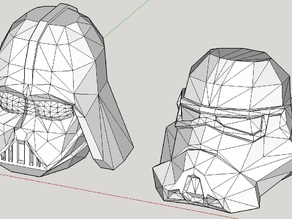 Low Poly Darkvader & Stormtrooper Head