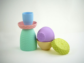 Pastel Containers