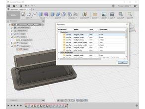 Parametric magnet shell/holder