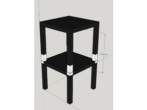 Ikea Lack Table Lifted Stacker (v2)