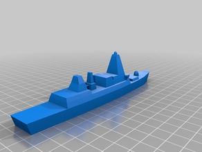 Low-poly Type 45 Destroyer