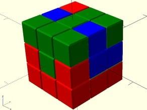 OpenSCAD Printable Interlocking Puzzle #1