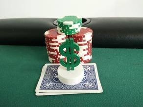 $ Dollar Sign Poker Card Capper
