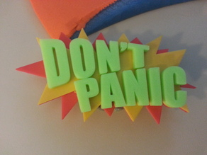 Don't Panic badge leash cover