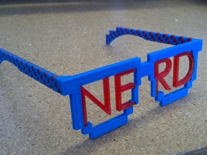 8-bit Nerd Glasses for Dual Extrusion