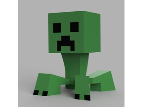Minecraft Creeper with Articulated Head