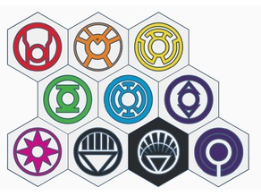 DC's Lantern Corps Coasters (Dual Extrusion)