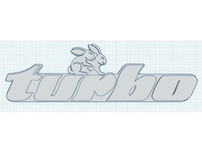 VW Turbo Rabbit Emblem