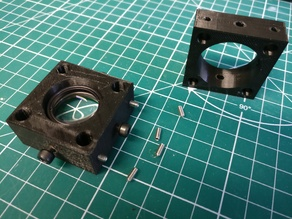 "Optical cage mount (30 mm) for 1"" lens (Thorlabs)"
