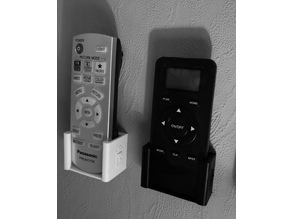 Collection of wall mounts for remotes