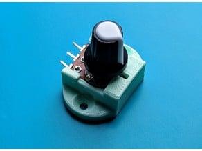 Pot Holder Potentiometer Snap-in Bracket for Arduino Pots