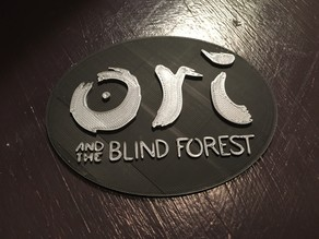 Video Game Plate with Ori and the Blind Forest Text