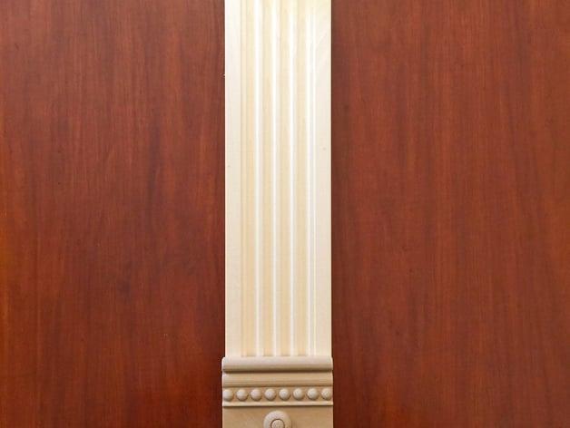 Victorian Rosette Block For Door And Window Trim By Craeen