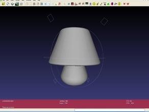 Mushroom - style lamp