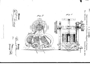 1872 Electro-Magnetic Engine Patent Model, Patent# 122,944