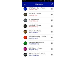 FREE APP FILAMENT STOCK , CALCULATE COSTS, CREATE BUDGETS