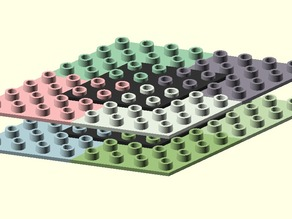 Customizable Gear Organizing Plate
