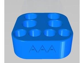 AA AAA Battery Stand 4x + 4x