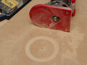 Customizable Circle Cutting Jig for Harbor Freight Trim Router
