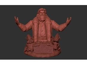Santa Claus bust (Kurt Russell)