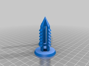 My Customized Parametric push pin-14mm-cones