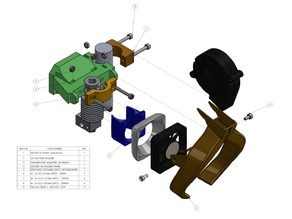 X5S FANG DUCT + E3D V6 HOLDER w/ BED LEVEL SENSOR