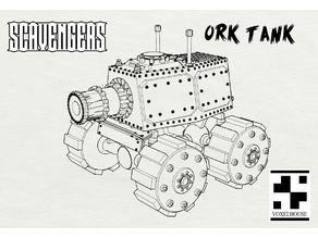 Orc Steam tank V 2.0 for Scavengers Wargame