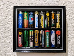 AA Battery Display Frame