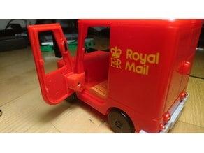 Door hinge for Postman Pat car door