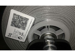 Rueda filamento bq Easy Go PLA gris