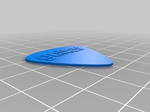Very simple customisable plectrum
